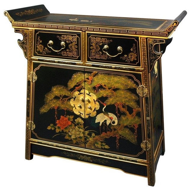 Lacquer Altar Cabinet - Traditional - Accent Chests And Cabinets - by Oriental Furniture