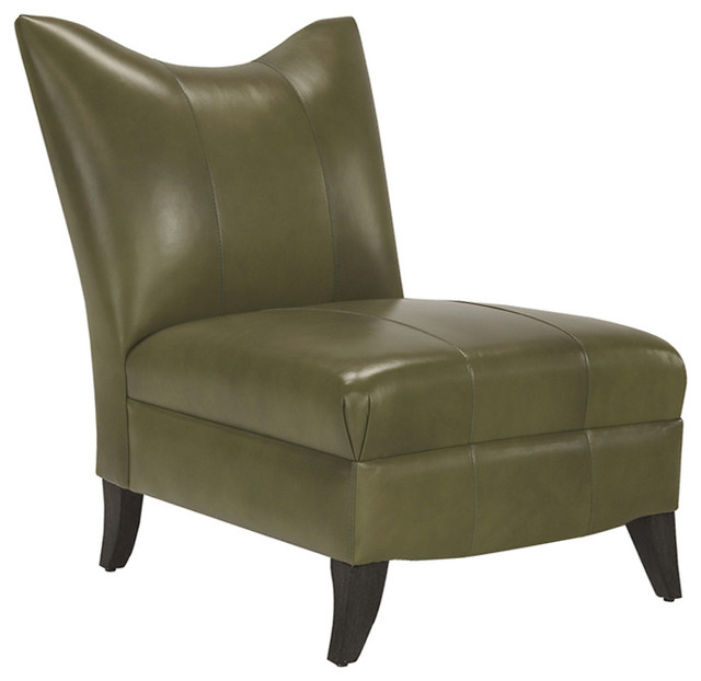 Prague II Leather Armless Chair in Sussex Giacomo ...