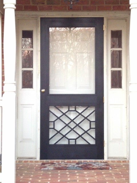 Legacy chippendale storm sceen doors traditional for Exterior door with window and screen