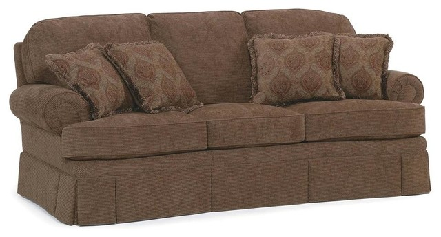 Semi attached back sofa w cushion fabric am for Semi classic sofa