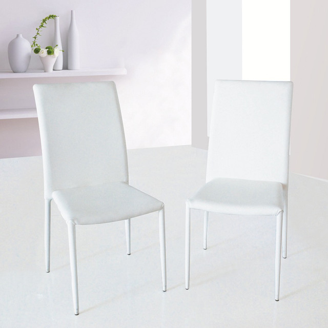 J m furniture dc 13 dining chair in white set of 4 for J m furniture soho living room collection