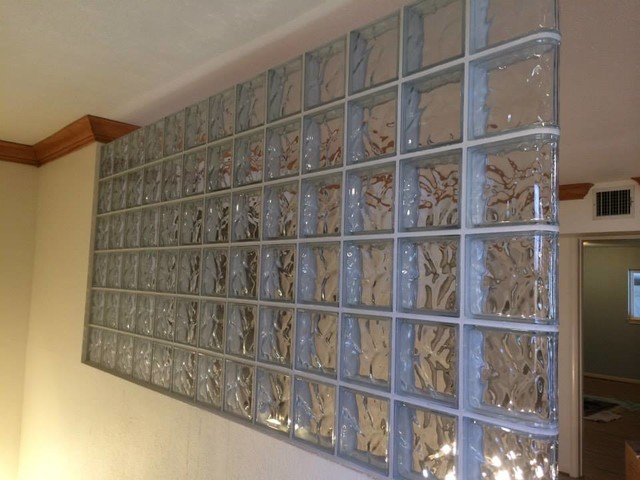Glass Block Partition Modern Screens And Room Dividers
