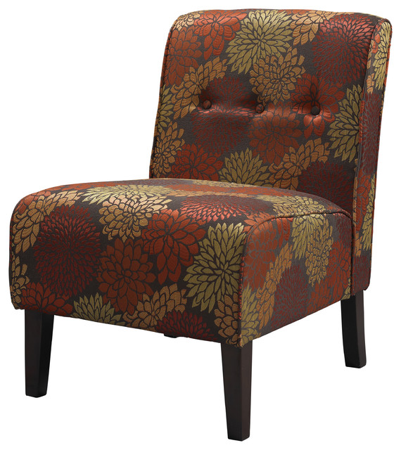Linon Coco Harvest Accent Chair Contemporary Armchairs Accent Chairs By