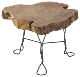 Unique And Nature Themed Wooden Table Stand
