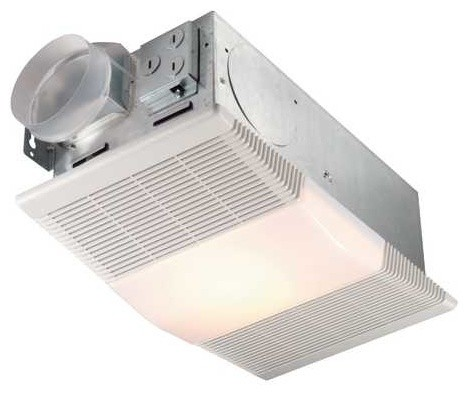 70 cfm ventilation fan with heater and light un 665rp for Cfm requirements for bathroom fans