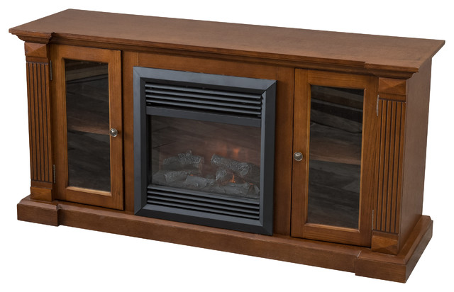 Noah Mahogany Fireplace Insert Tv Stand Contemporary Indoor Fireplaces By Great Deal Furniture