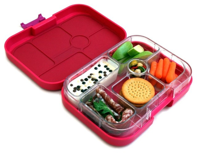 ... Lunch Box Container, Framboise Pink contemporary-lunch-boxes-and-totes