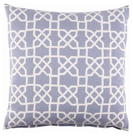 John Robshaw Blue Trellis Pillow - Contemporary - Decorative Pillows