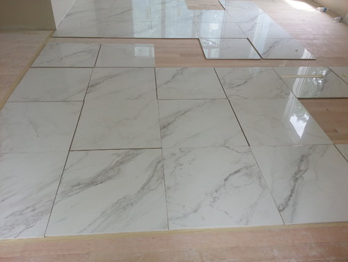 Carrara floor tiles