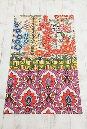 Floral Stripe Printed Rug Eclectic Rugs By Urban