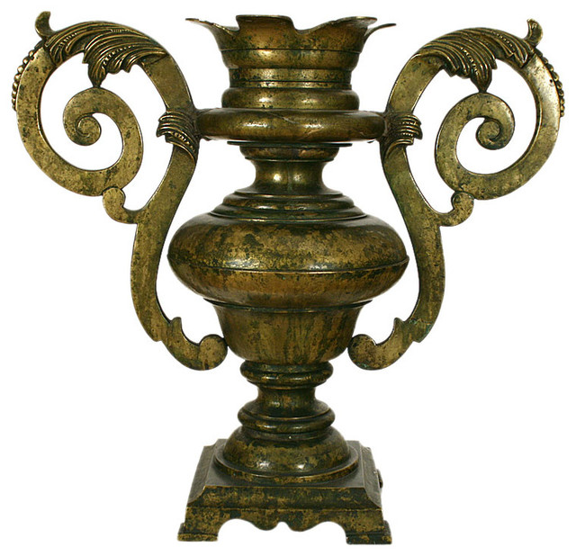 Large brass baroque two handled urn home decor atlanta for Baroque home accessories