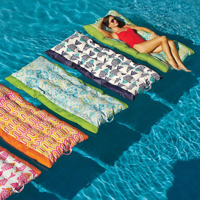 Suzanne pool float belize tangerine contemporary pool for Pool floats design raises questions