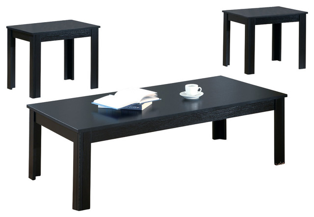 Table set 3 piece set black coffee table sets by yolostocks 3 set coffee tables