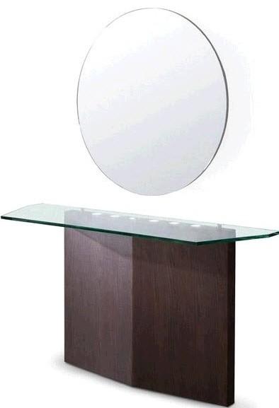 modrest modern console and mirror set wenge oak modern. Black Bedroom Furniture Sets. Home Design Ideas