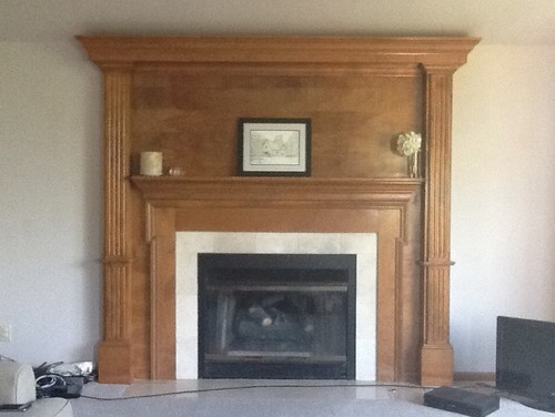 Should we paint our oak fireplace white for How to clean smoke damage from painted walls