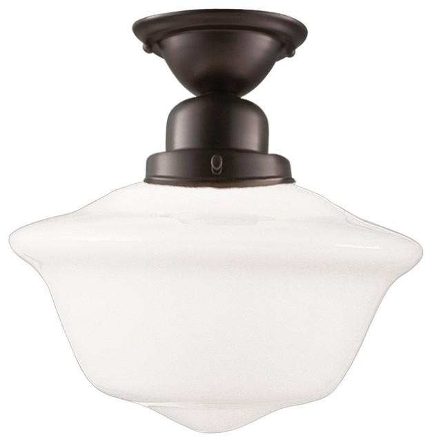 Hudson Valley Lighting Edison Contemporary Semi Flush Mount Ceiling Light X B