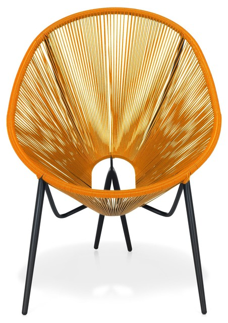 kadom fauteuil de jardin fil scoubidou orange contemporain fauteuil de jardin par alin a. Black Bedroom Furniture Sets. Home Design Ideas
