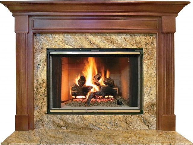 Franklin mdf primed white fireplace mantel surround 36 modern fireplace mantels by shop - Modern fireplace mantels ...