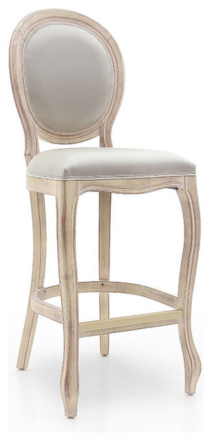 louis french style oval back bar stool shabby chic bar. Black Bedroom Furniture Sets. Home Design Ideas