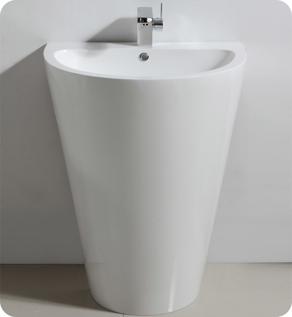 Parma White Pedestal Sink With Medicine Cabinet Modern Bathroom Vanity Mode