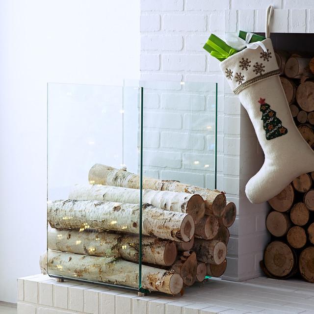 modern firewood holder new contemporary fireplace