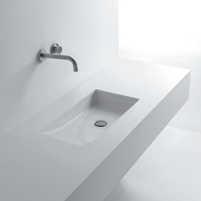 "Om in 68 Slanted Undermount Bathroom Sink 26.8"" x 14.6 ..."