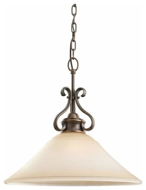 1 Light Pendant Russet Bronze