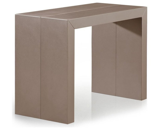 Inside 75 console extensible illusion taupe mat effet - Console table a manger ...