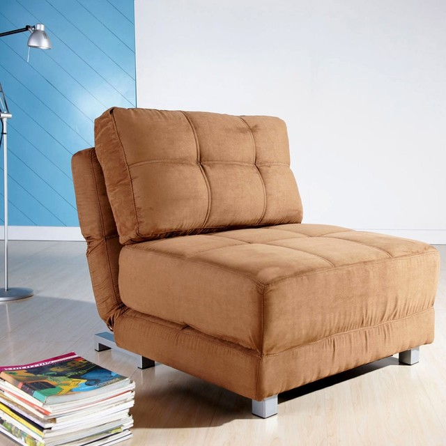 New york brown convertible chair bed contemporary for York sofa bed
