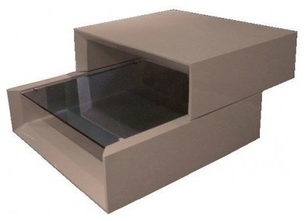 Grind coffee table modulable taupe laque design contemporary coffee tables - Table basse laquee taupe ...