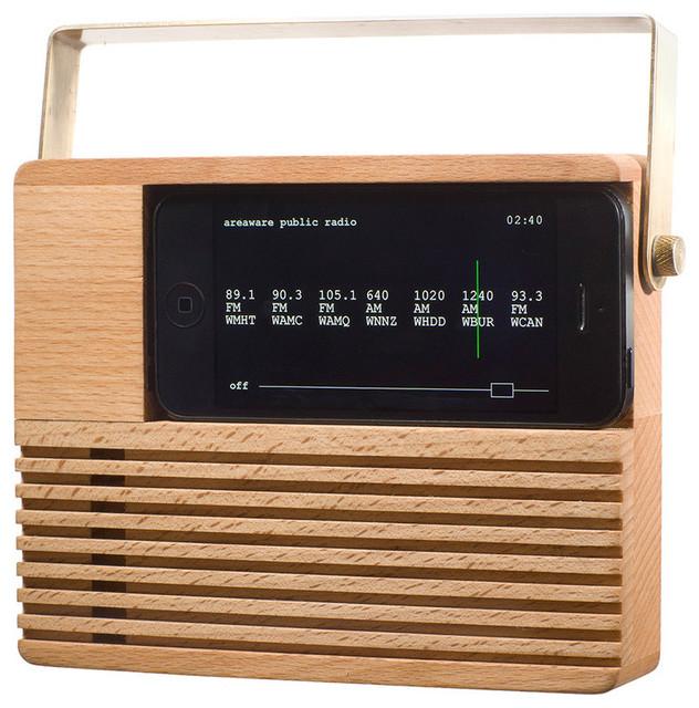 Areaware Radio Dock for iPhone Contemporary Desk