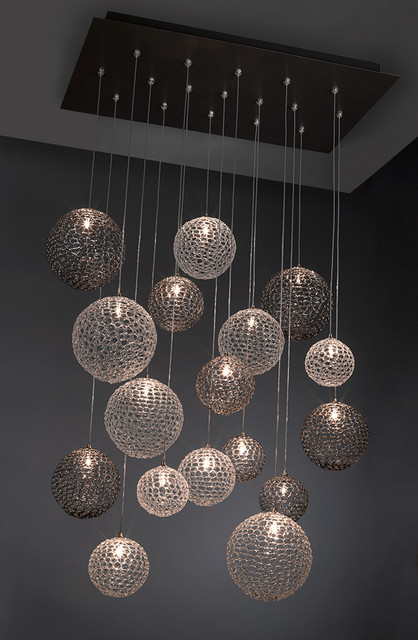 Mod chandelier moderne lustre new york par shakuff - Lustre suspension new york ...