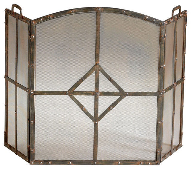Cyan Design Lincoln Fire Screen Traditional Fireplace Screens By Benjamin Rugs And Furniture