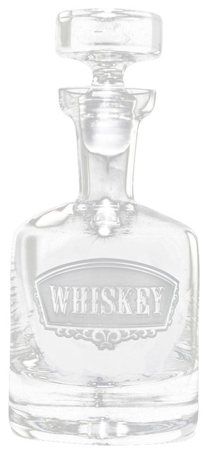 Whiskey Banner Decanter - Traditional - Decanters - by Crystal Imagery