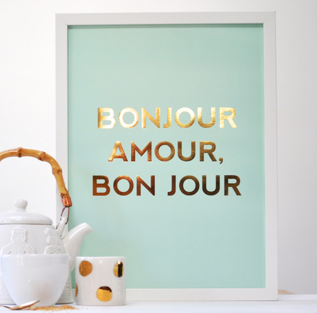 Good Morning Love Of My Life In French : Bonjour amour bon jour poster prints and posters by