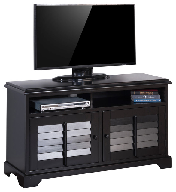 """TV Console With Shutters, 54"""" tropical-entertainment-centers-and-tv ..."""