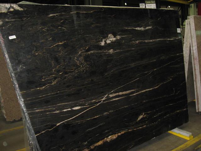 Black Marble Buildings : Cosmic black granite