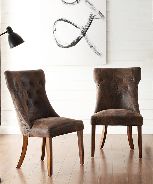 Cocoa Albertson Dining Chair Set of Two Contemporary Dining Chairs