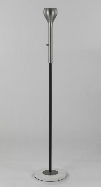 Robert abbey d2132 axis one light floor torchiere for Contemporary torchiere floor lamps