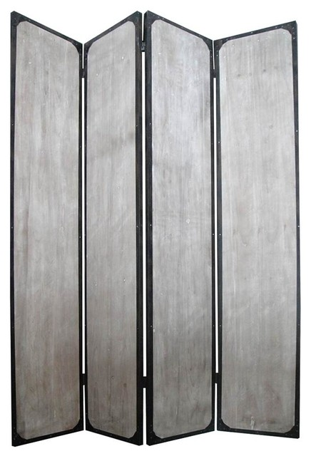 Industrial 4 panel privacy screen divider screens and for Industrial room dividers
