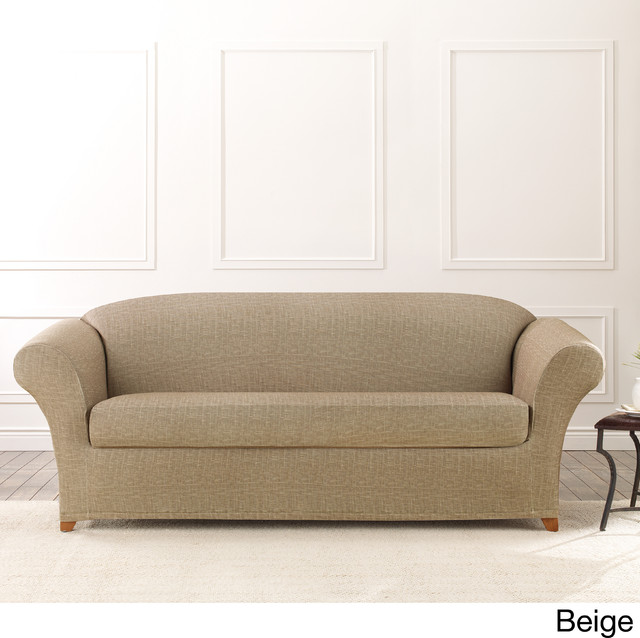 Sure Fit Stretch Vintage Crosshatch Sofa Slipcover