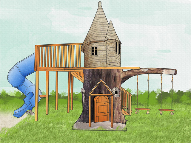Tree Houses - Traditional - Outdoor Playhouses - by The 4 ...