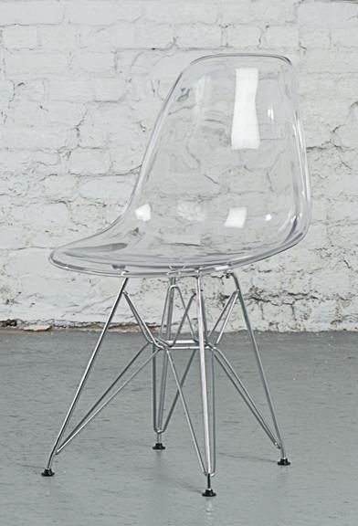 Transparent eames eiffel side chair replica r tro chaise de salle mange - Chaises eames montreal ...