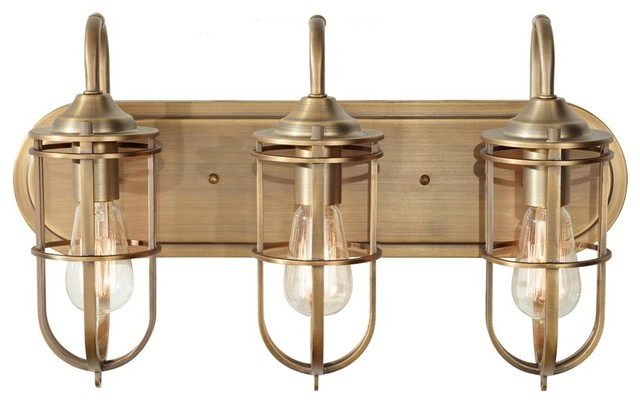 Talista 4 Light Antique Bronze Bath Vanity Light With: Urban Renewal 3-Light Bathroom Fixture