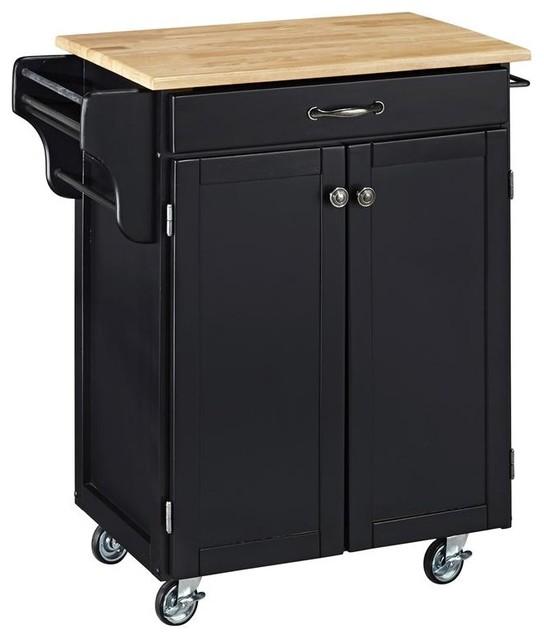 Kitchen Island On Wheels Uk: Kitchen Cart In Black Finish