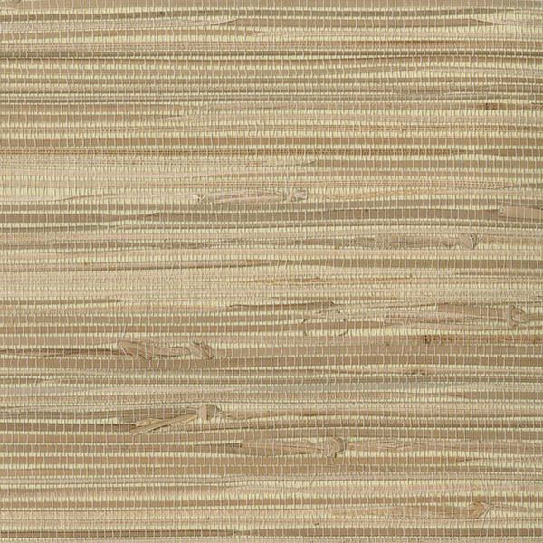 Modern Wallpaper Sage Green Metallic Faux Grasscloth: Endo Neutral Grasscloth Wallpaper, Bolt
