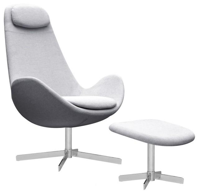 loungesessel houston hellgrau hoch mit hocker minimalistisch sessel von fashion4home gmbh. Black Bedroom Furniture Sets. Home Design Ideas