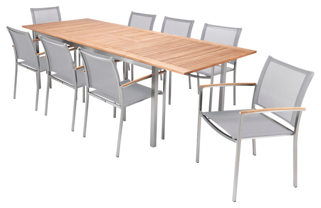 AuthenTEAK Stainless Collection Modern Patio Furniture