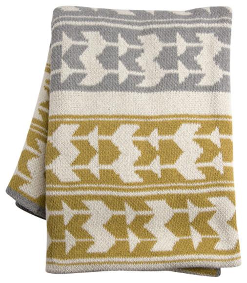 Smoke Blue Throw Pillow : Indian Smoke Eco-Throw - Modern - Throws - by NuBe Green LLC