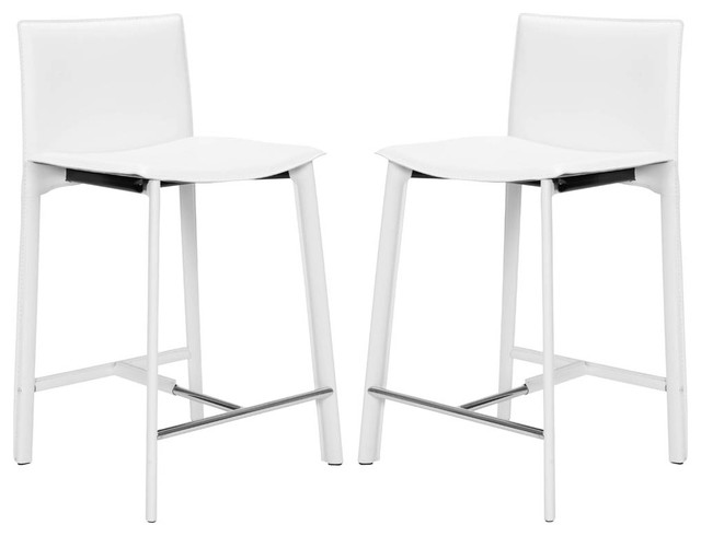 Safavieh Janet 24 Inch Counter Stool In White Set Of 2